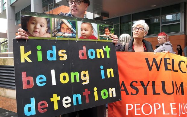 Protesters outside an immigration office in Sydney in February, 2016.